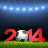 3D - Football - 2014 IV Stock Image