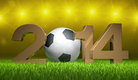 3D - Football - 2014 03 Royalty Free Stock Image