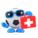 3d Football medic Stock Images