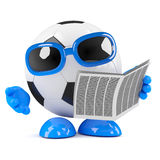 3d Football news Royalty Free Stock Photography