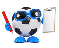 3d Football is organised Stock Photos