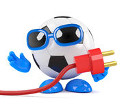 3d Football power cord Stock Image
