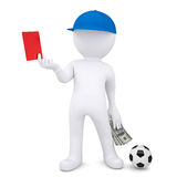 3d football referee took bribe. 3d football referee took a bribe.  render on a white background Royalty Free Stock Photo