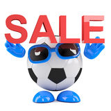 3d Football sale Stock Photography