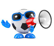 3d Football shouts Stock Photo