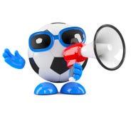 3d Football shouts Stock Photo
