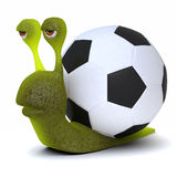 3d Football snail Stock Images