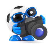 3d Football snaps Stock Photography