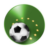 3D Football Soccer Blank Icon Symbol Stock Images