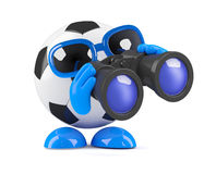 3d Football spy Stock Photo