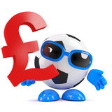 3d Football UK Pounds Royalty Free Stock Image