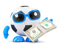 3d Football US Dollars Stock Photos