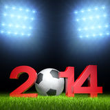 3D - Football - 2014 V Stock Photography