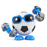 3d Football work out Royalty Free Stock Image
