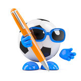 3d Football writing Royalty Free Stock Photo
