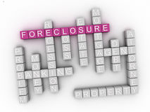 3d Foreclosure Concept word cloud Royalty Free Stock Photo