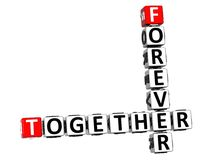 3D Forever Together Crossword Royalty Free Stock Images