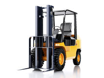 3d Forklift truck. cargo.  white background. 3d renderer illustration. Forklift truck. cargo.  white background Royalty Free Stock Photos