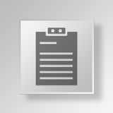 3D form Button Icon Concept. 3D Symbol Gray Square form Button Icon Concept Stock Photo