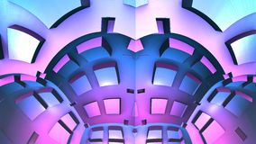 3D forme geometriche, illustrazione del fondo 3D Fotografia Stock