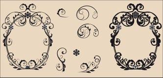 3 d formie ram trzy piękne wymiarowej ilustracji bardzo roczne Obrazy Stock