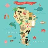 3 d formie wymiarowej Amerykę wspaniałą na południe ilustracyjni trzech bardzo Obraz Stock