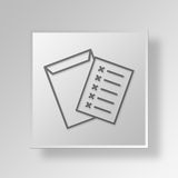 3D forms Button Icon Concept Stock Image