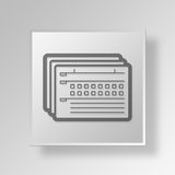 3D forms Button Icon Concept Royalty Free Stock Image