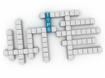 3d fornisce di punta l'illustrazione della nuvola di parola di concetti Immagini Stock