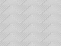 3D forram a linha da geometria da cruz da onda da curva da arte Imagem de Stock
