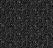 3D forram o quadro da cruz da espiral da curva do trefoil do teste padrão da arte Foto de Stock