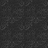 3D forram a videira chain transversal espiral redonda do teste padrão da arte Imagens de Stock Royalty Free