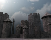 3D Fortress Stock Photo