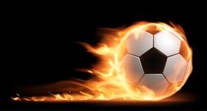 2d fotboll för diagram för brand för bolldatordesign stock illustrationer
