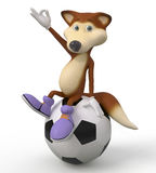 3d foxes al futbolista Imagenes de archivo