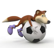 3d foxes football player. Royalty Free Stock Photo