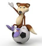 3d foxes il giocatore di football americano Immagini Stock