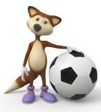 3d foxes o jogador de futebol Foto de Stock Royalty Free