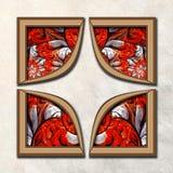 3D fractal Combo obramiająca grafika Zdjęcia Royalty Free