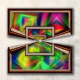 3D fractal Combo obramiająca grafika Zdjęcie Royalty Free