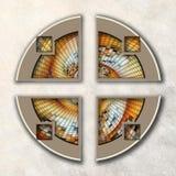 3D fractal Combo obramiająca grafika Fotografia Royalty Free