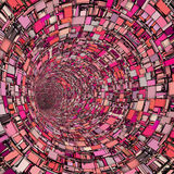 3d fragment techno tile tunnel pipe in pink Stock Photos
