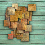 3d fragmented multiple color square tile grunge pattern backdrop Royalty Free Stock Images