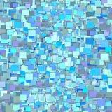3d fragmenterad blå bakgrund för lilategelplattamodell Royaltyfri Bild