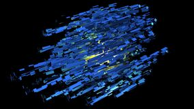 3D frambragd abstrakt utrymmestruktur Arkivbilder