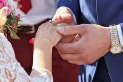 3d frambragt bildcirkelbröllop Arkivbild
