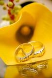 3d frambragt bildcirkelbröllop Royaltyfri Bild