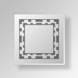 3D FRAME 5 Button Icon Concept Stock Images