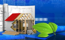 3d of frame house Stock Image