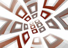 3d frames background. 3d frames abstract red grey background Royalty Free Stock Photo